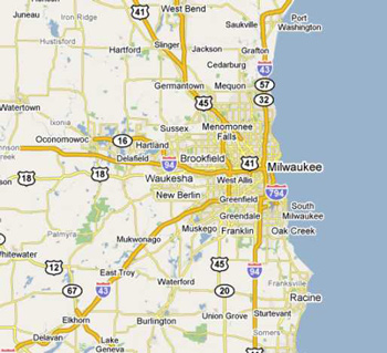 dumpster service map, Milwaukee, Wisconsin